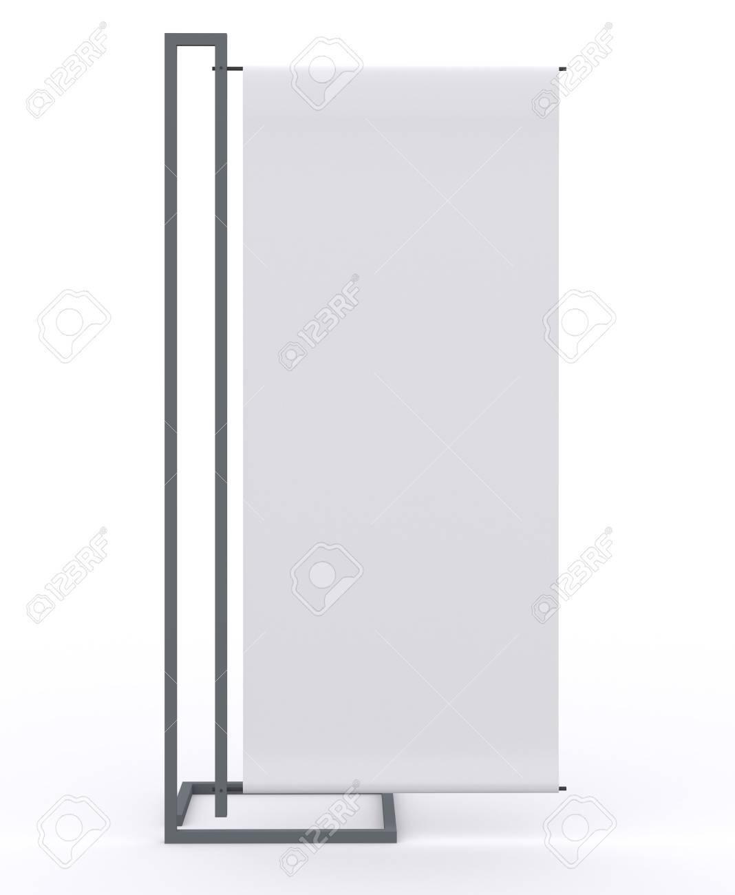 Pantalla En Blanco Banner Nuevo Diseño De Aluminio Plantilla Del ...