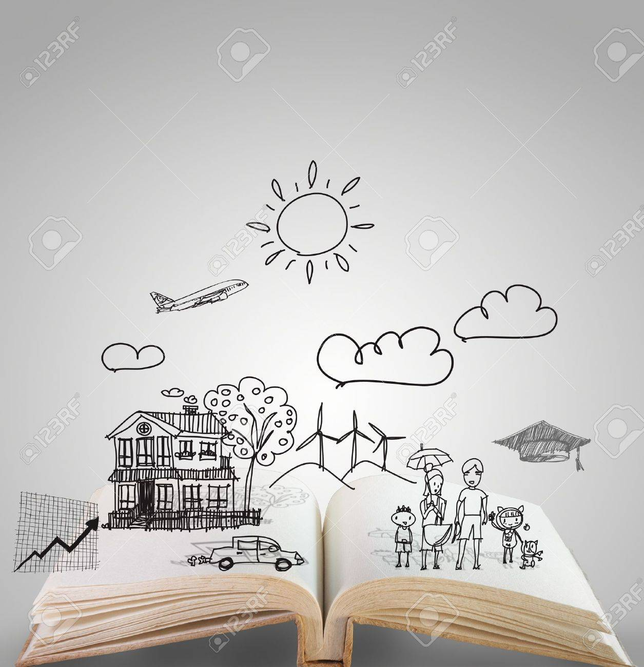 open book of family story - 16096414