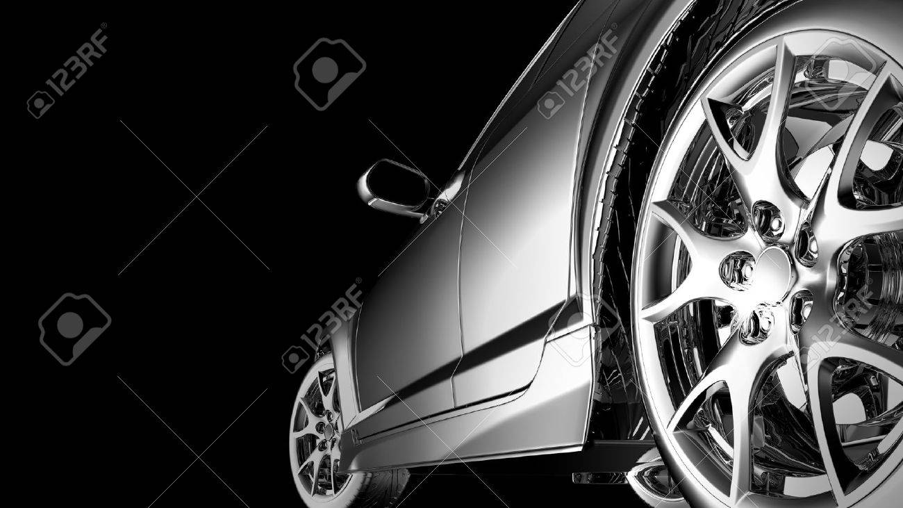stylish car model on black - 16096499