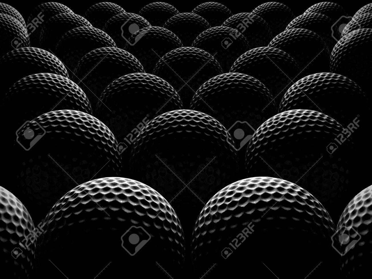 golf balls over dark background - 16083513