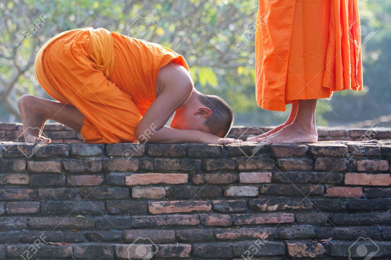 a group of young Buddhist monks - 16396173