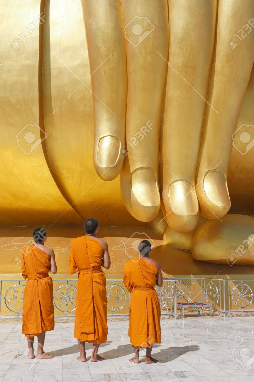 a group of young Buddhist monks - 16423195