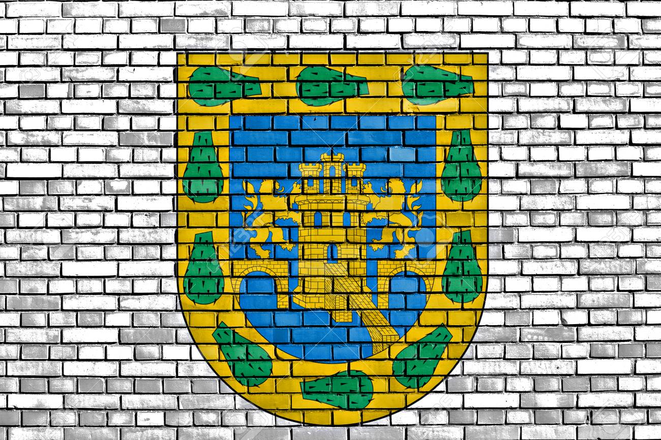 Flag Of Mexico City Painted On Brick Wall Stock Photo, Picture And ...