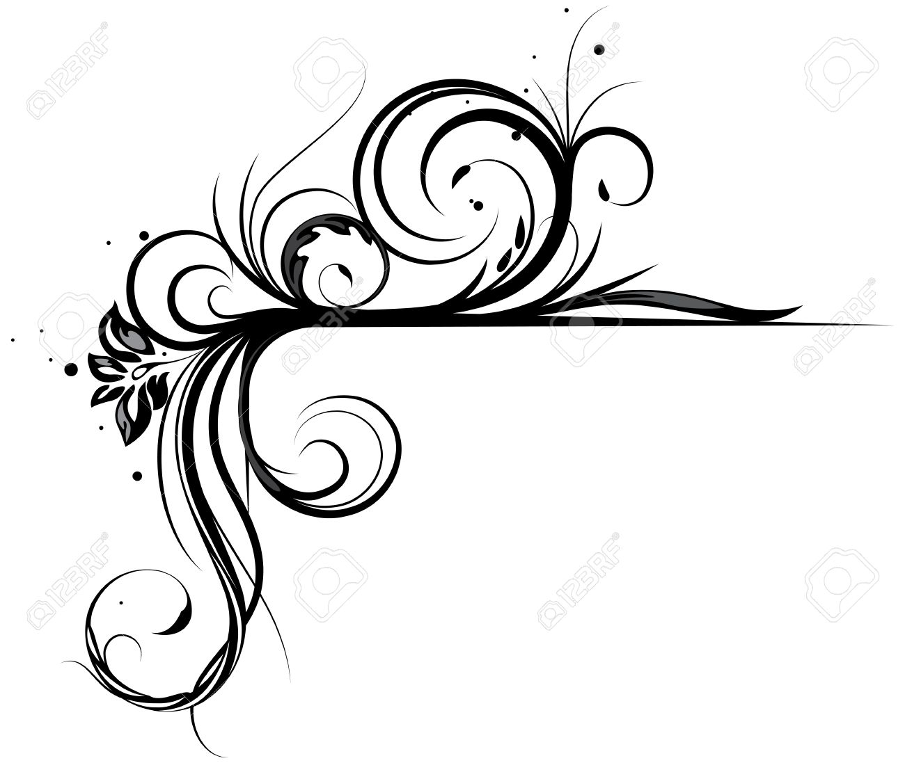c9f7dfa3fab Vector Floral Corner For Design Royalty Free Cliparts