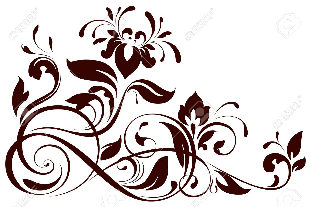 Line Drawing Flower Vector : Illustration of floral ornament royalty free cliparts vectors and