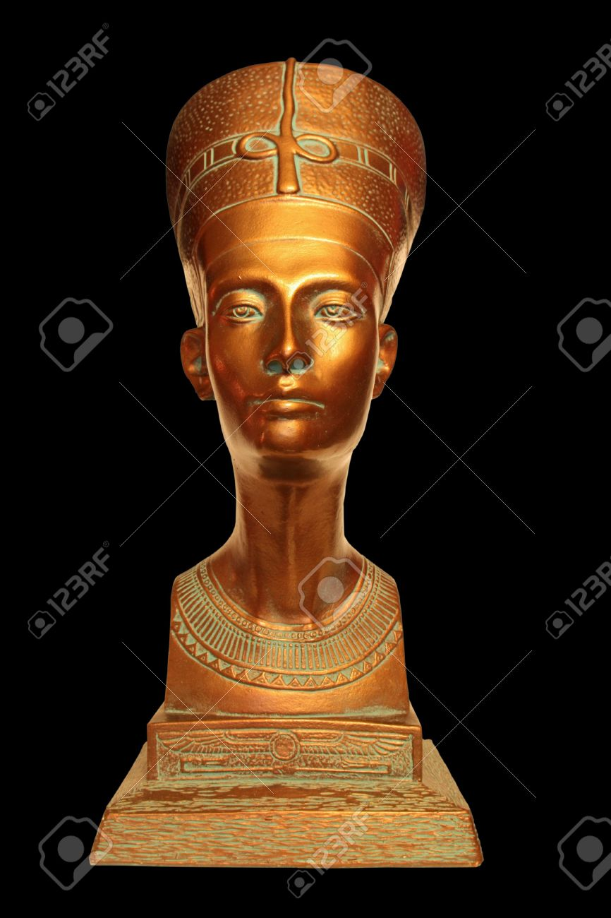 A bust of the Egyptian queen Nefertiti