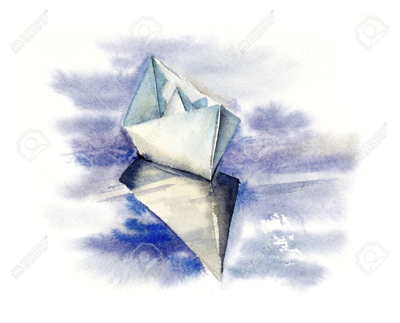 Resultado de imagen para barquito de papel pintura