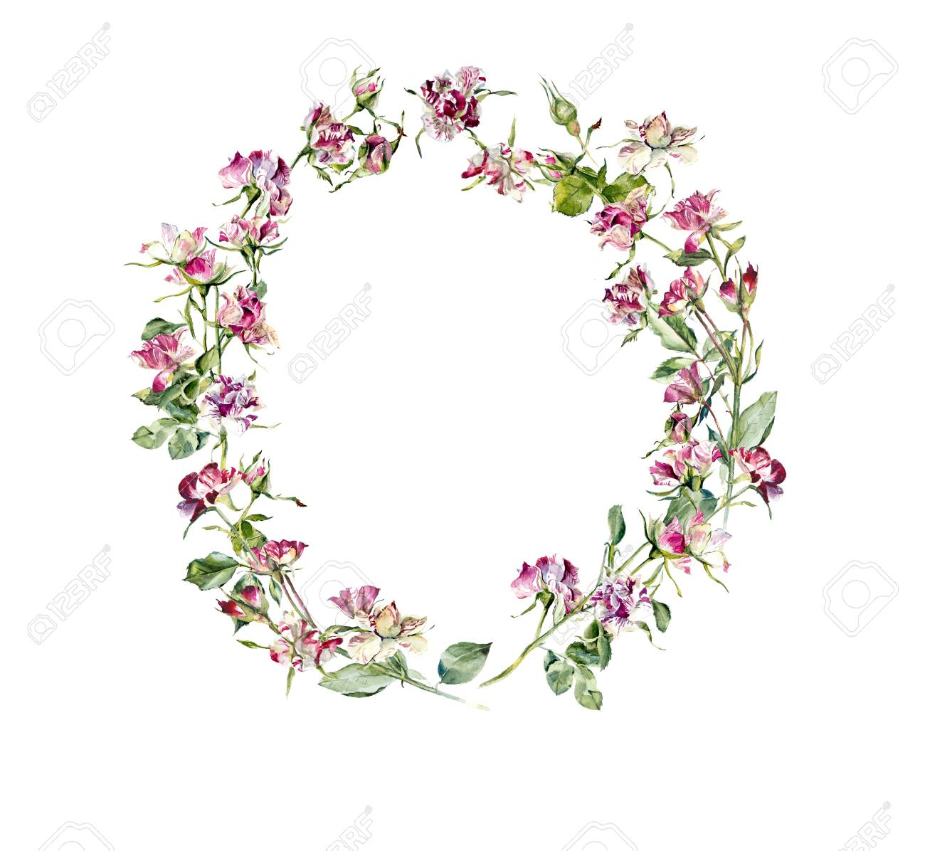 Circle frame from roses wedding drawings greeting cards flower circle frame from roses wedding drawings greeting cards flower backdrop place for m4hsunfo Choice Image
