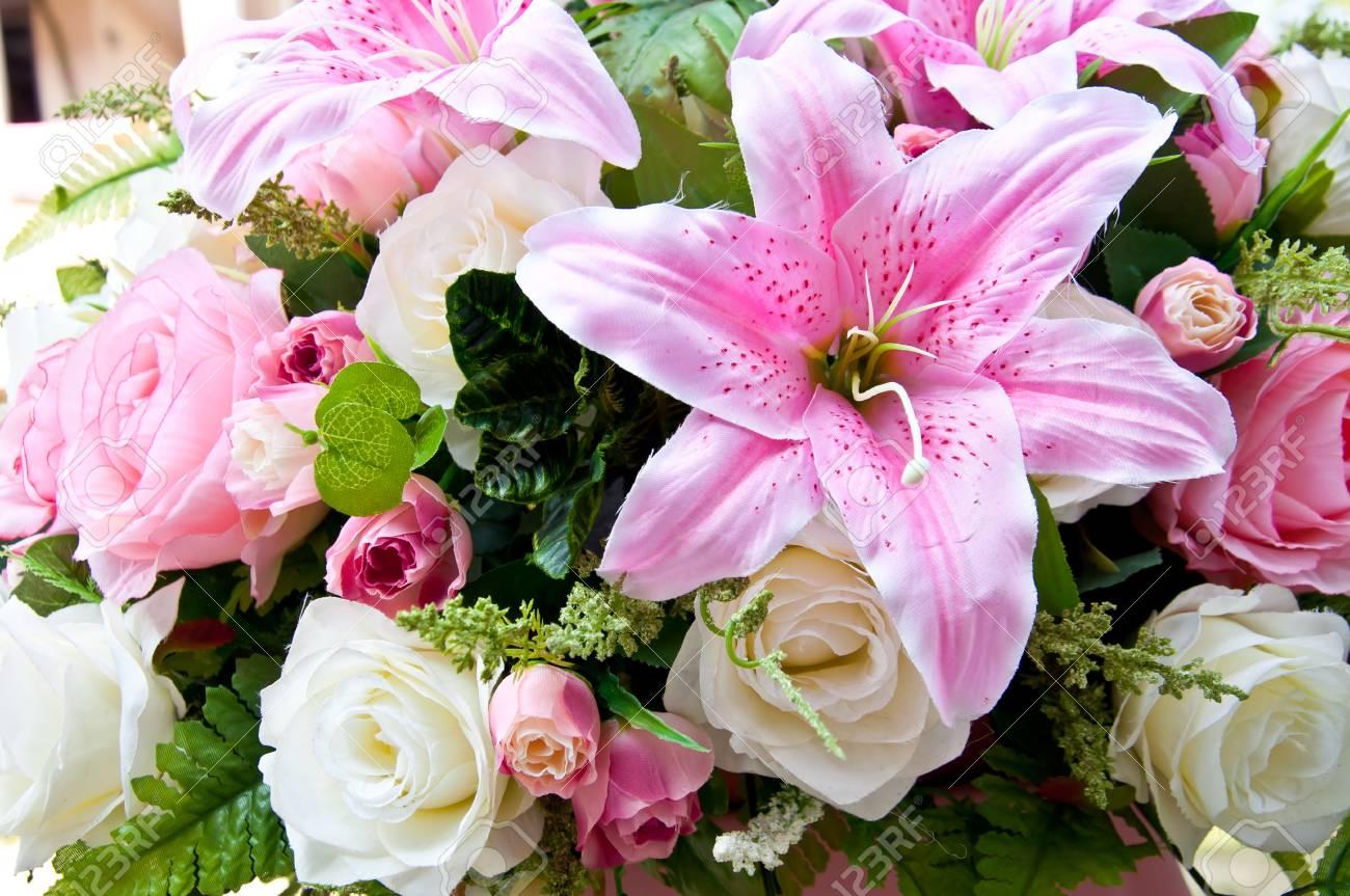 Fleur Artificielle Pour La Decoration De Mariage Banque D Images Et