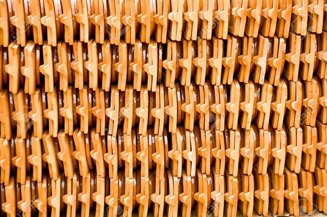 Immagini stock piastrelle di ceramica per il tetto di casa