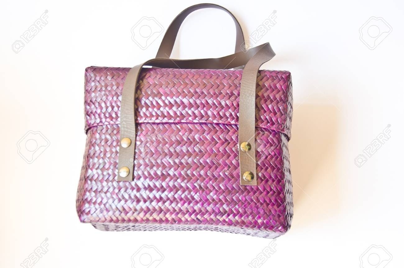violet lady bag on white background Stock Photo - 24486039