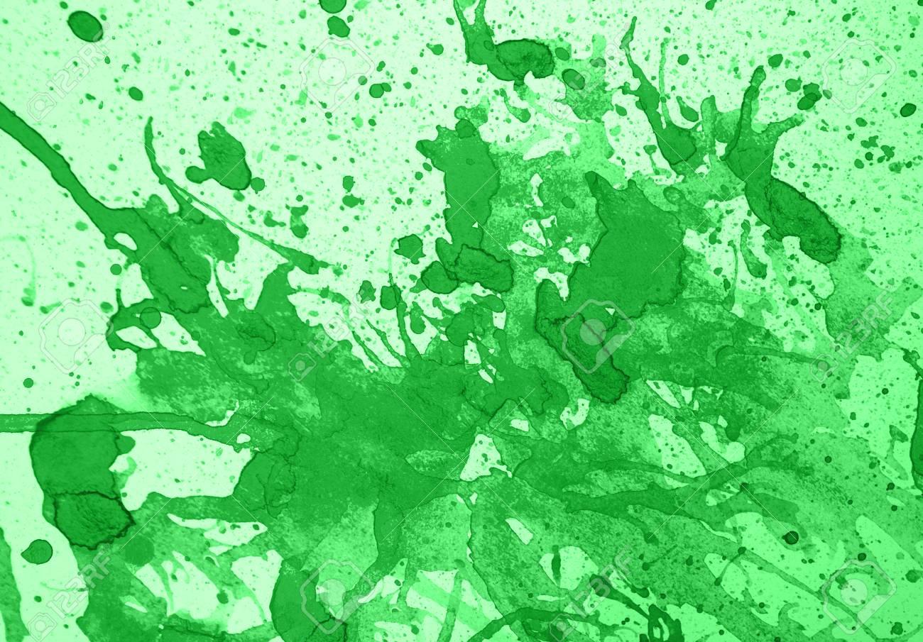 Immagini Stock Colore Verde Acqua Astratto Con Spruzzi Su Sfondo