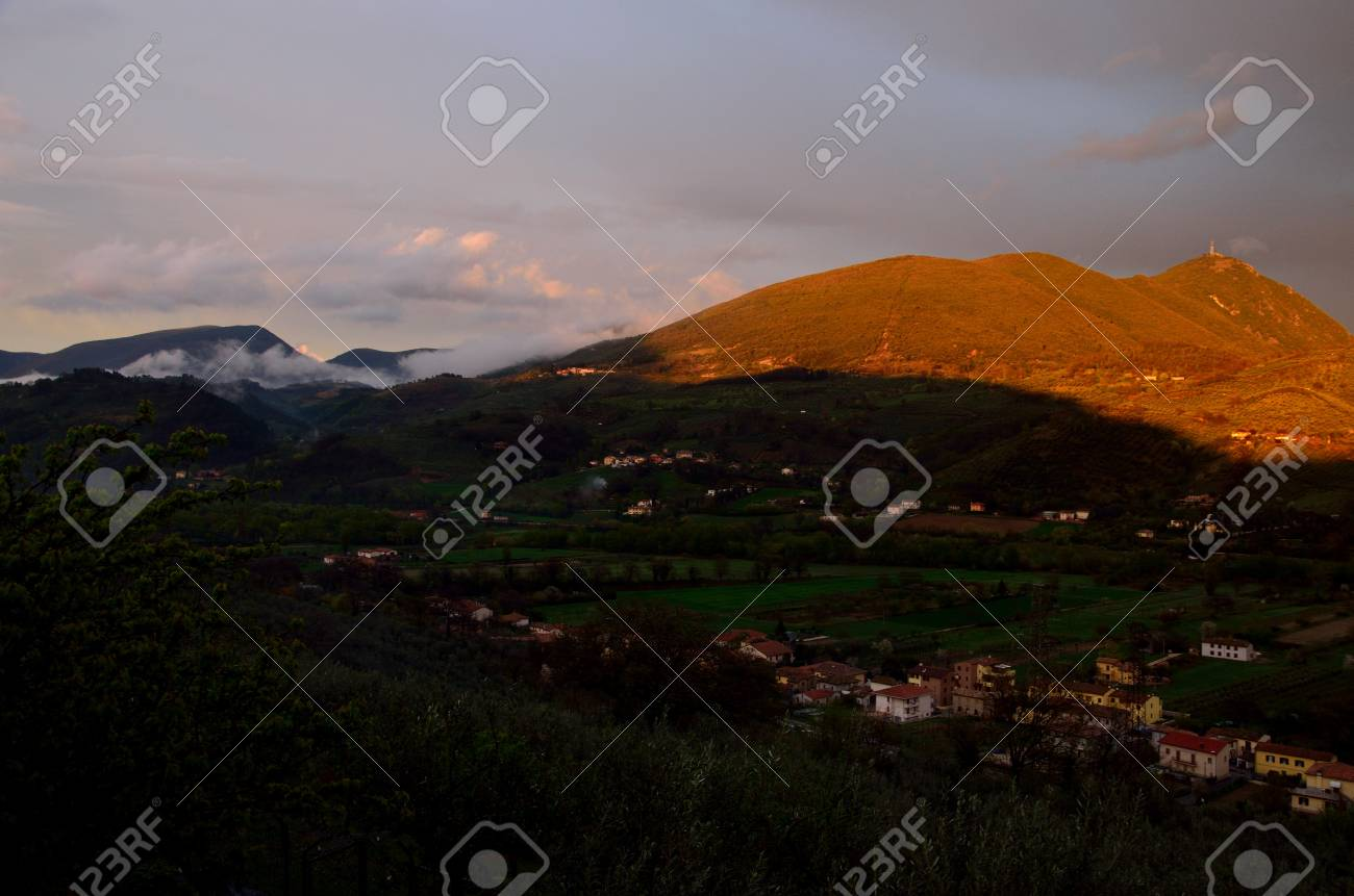 Umbria countryside after the storm Stock Photo - 13119639