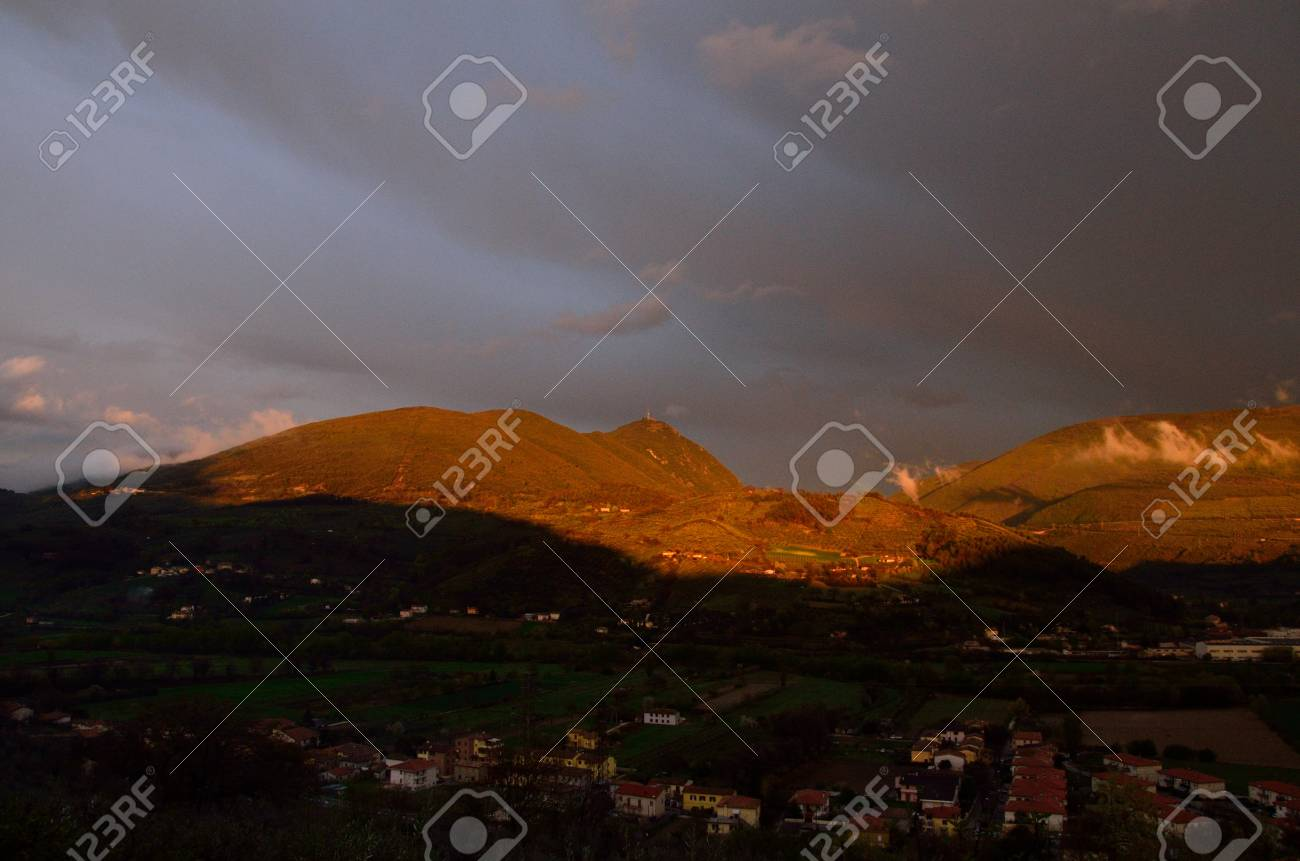 Italian appennino with the clouds Stock Photo - 13119817