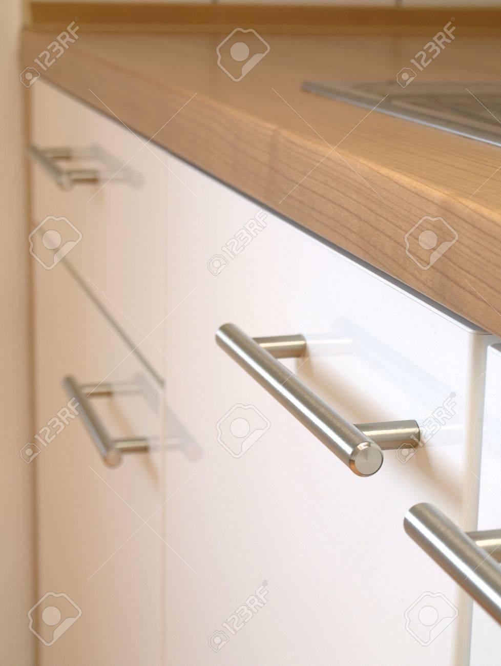 Eine Moderne Küche Schrank, Zähler Nach Oben, Sinken Lizenzfreie ...
