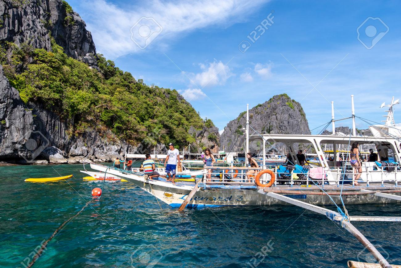 Nov 18 2018 Travelers Arriving To See The Big Lagoon At El Nido