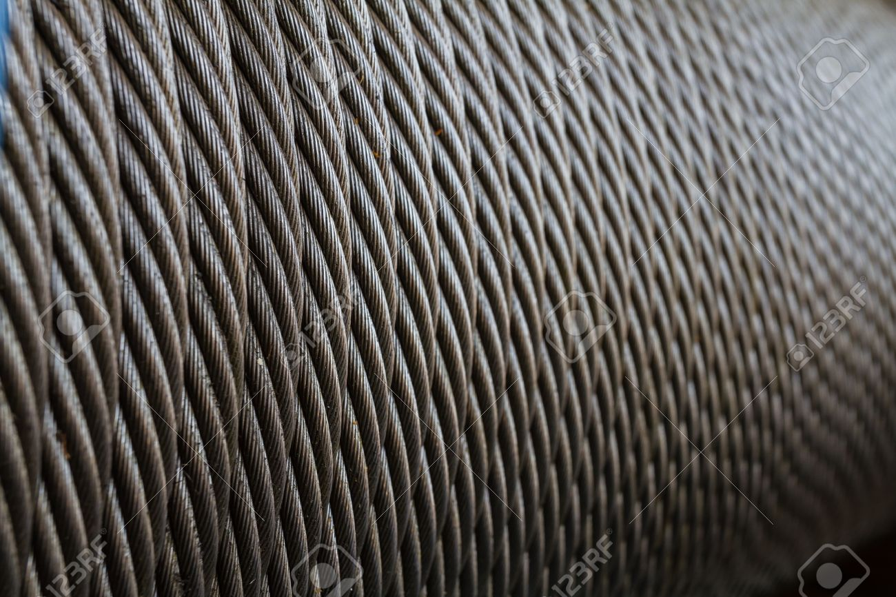 Wire Rope Texture - Heavy Duty Steel Wire Cable Or Rope Stock Photo ...