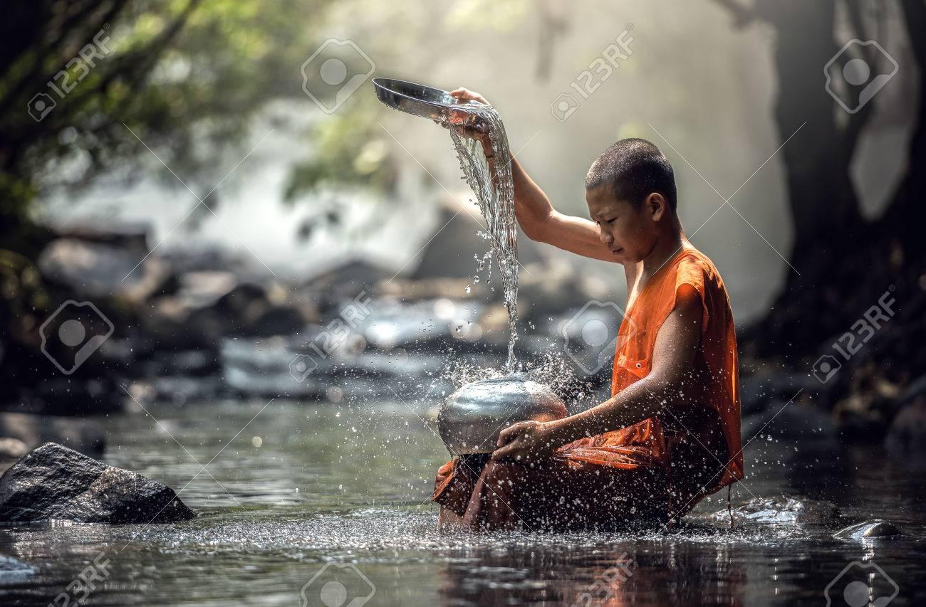 Novice Monk in Thailand - 60343441