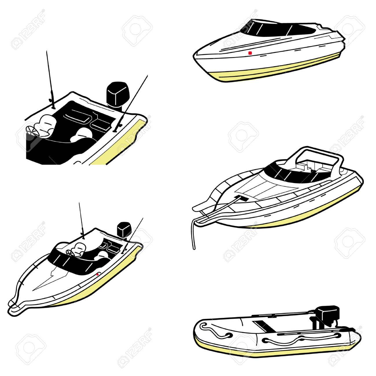 Differnet Types Of Boat Royalty Free Cliparts, Vectors, And Stock ...