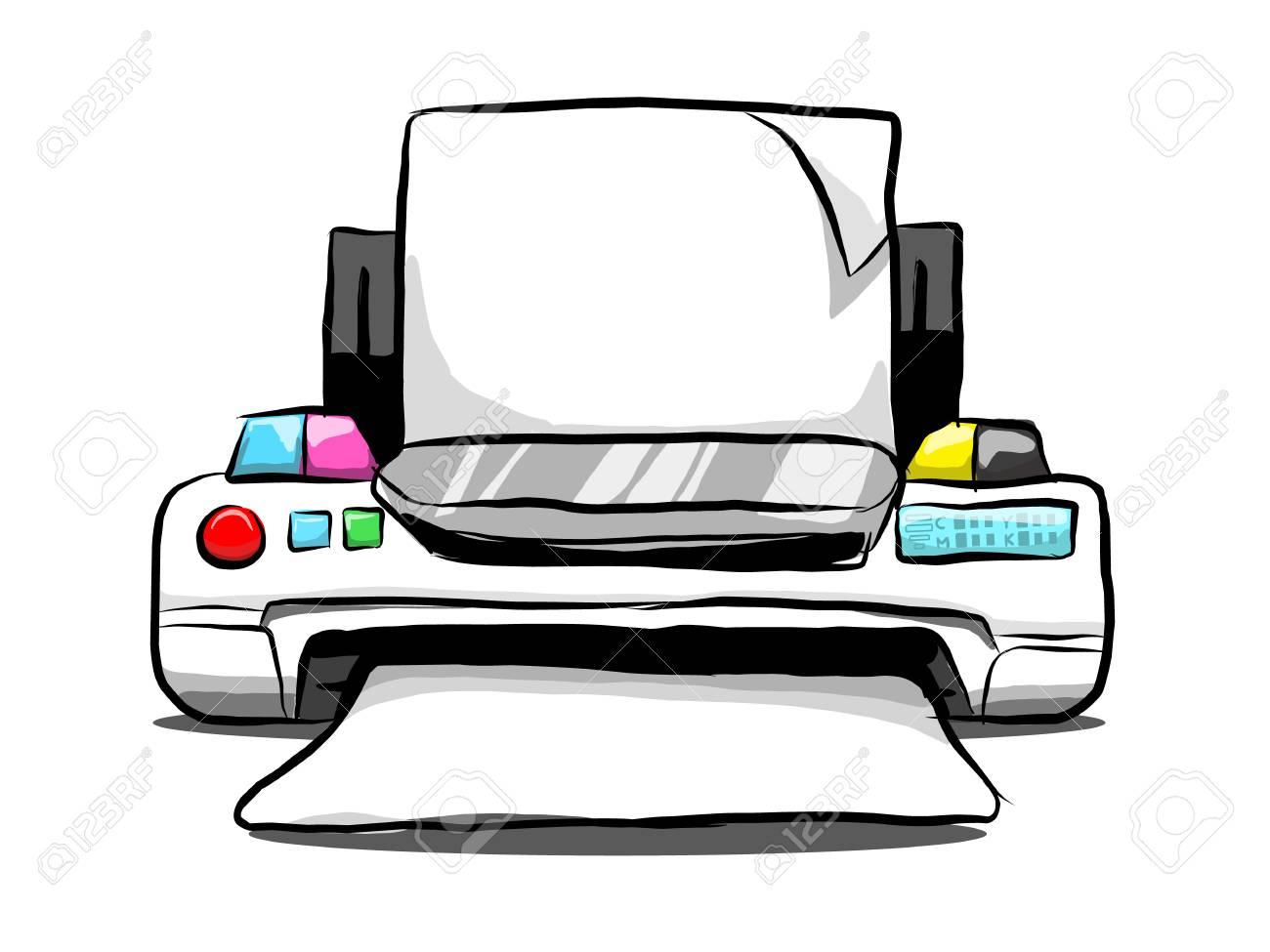 free hand drawing vector of desktop inkjet printer royalty free cliparts vectors and stock illustration image 125372736 free hand drawing vector of desktop inkjet printer