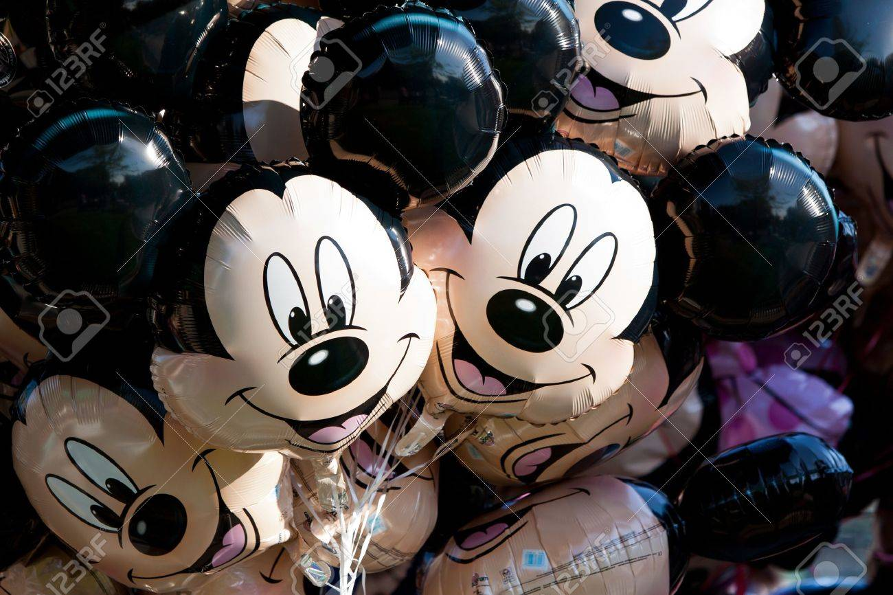 Paris, France, 01 June 2011 - Mickey Mouse Balloons Stock Photo - 10666683