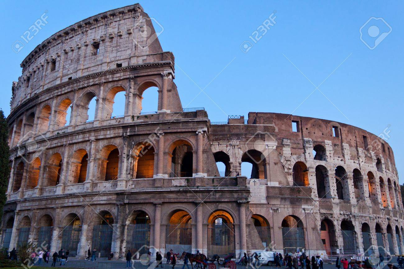The Colosseum, also called Flavian Amphitheatre, in Rome, Italy Stock Photo - 11581110