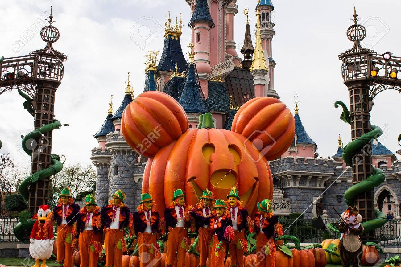 disneyland paris during halloween celebrations stock photo, picture