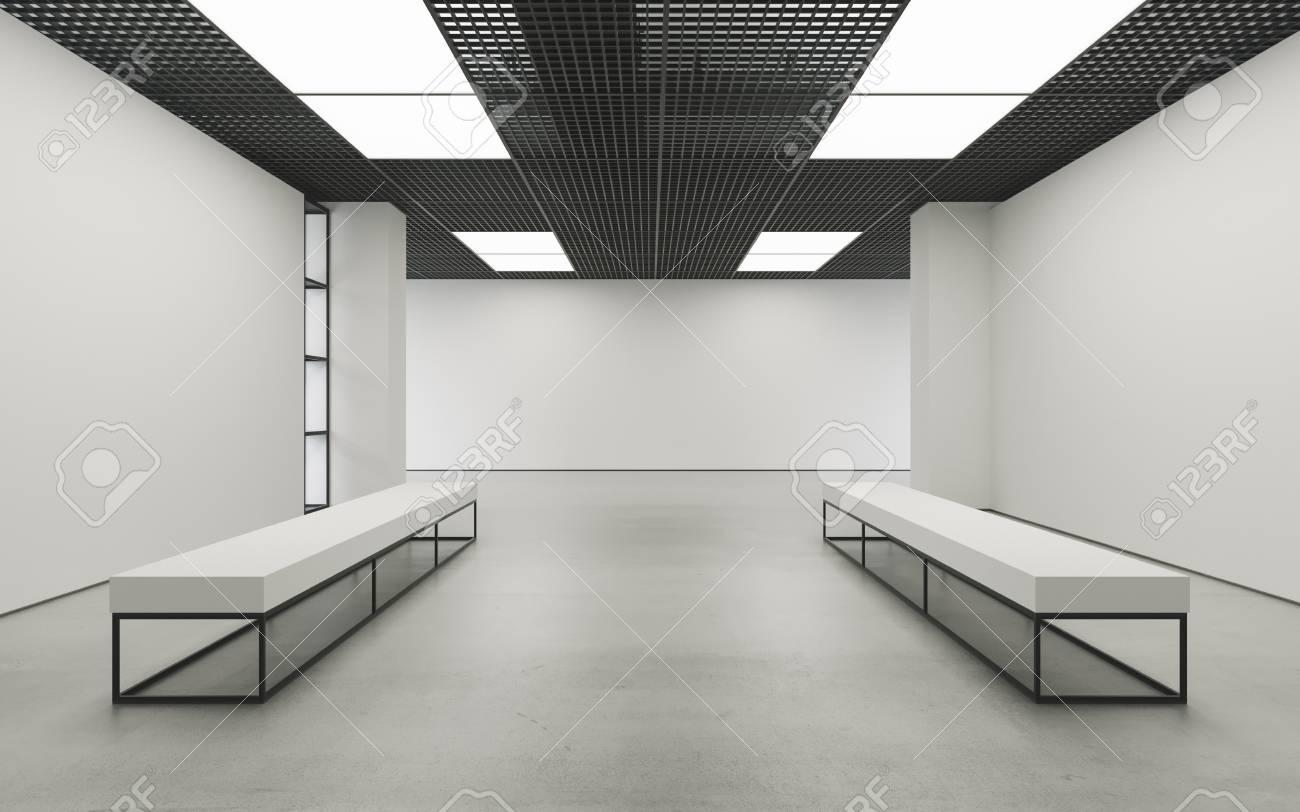 Moderne Leeren Minimalistische Interieur Der Ausstellung Mit ...