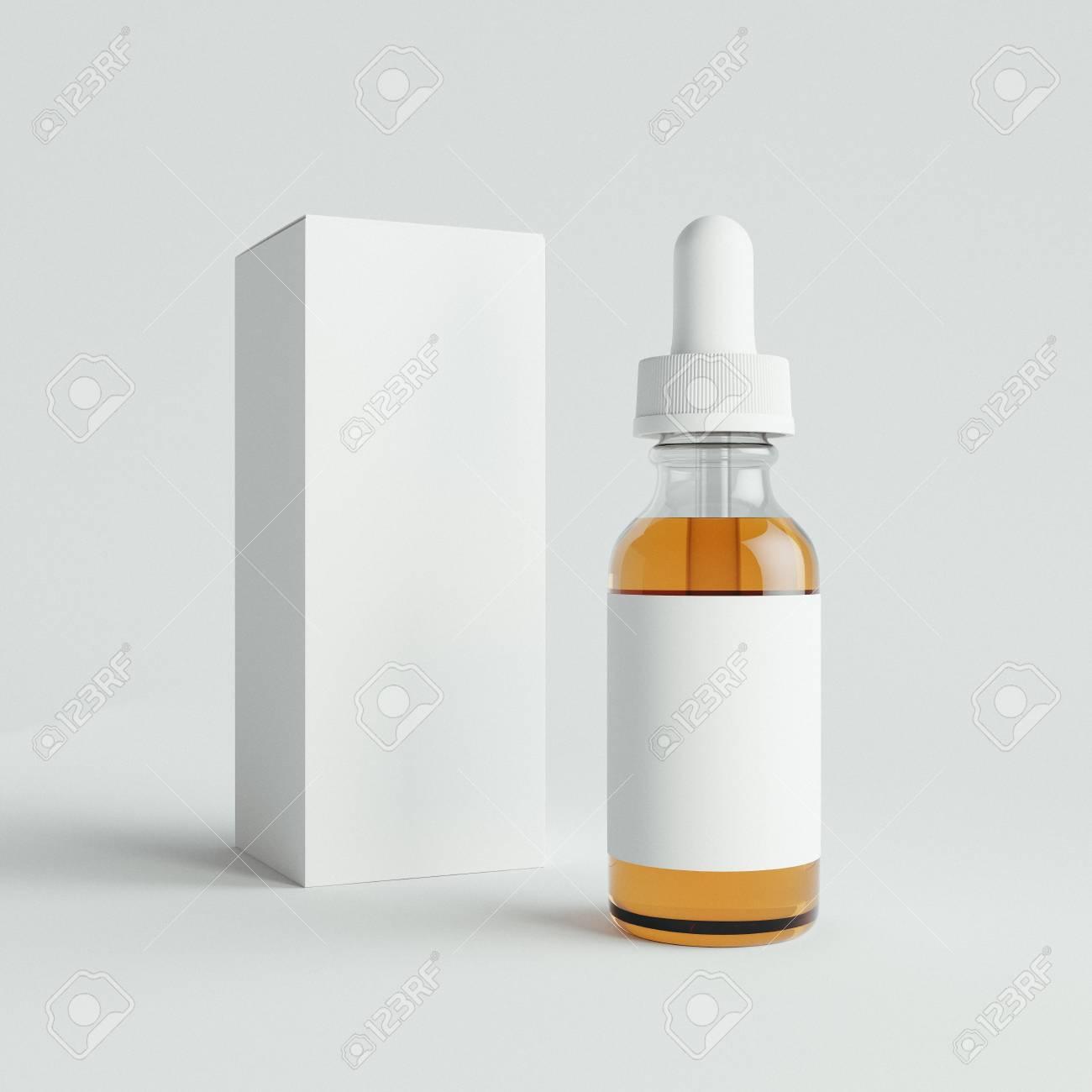 白い背景の上の液体でモックアップ アーク ボトル テンプレートです