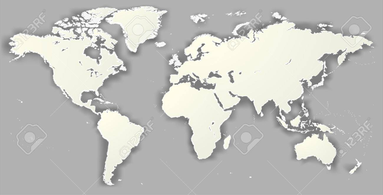Vector blank torn silhouette world map monochrome worldmap vector blank torn silhouette world map monochrome worldmap template website design info graphics detailed modern gumiabroncs Images