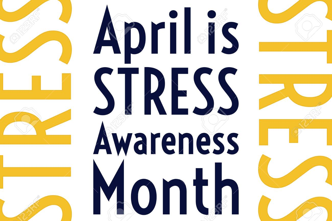 April is Stress Awareness Month. Holiday concept. Template for background, banner, card, poster with text inscription. Vector EPS10 illustration. - 140599139