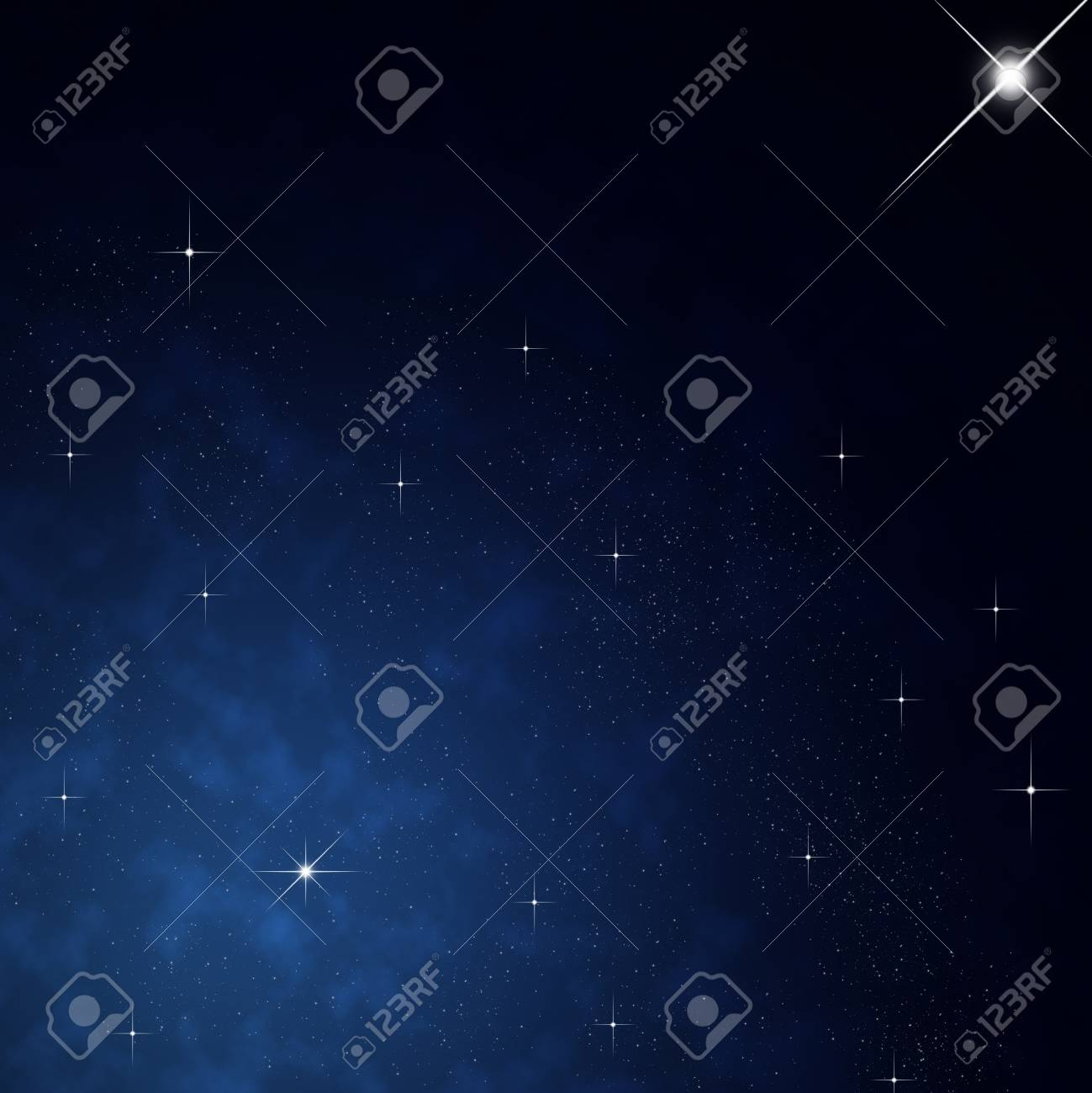 Star on sky at night Stock Photo - 12750025