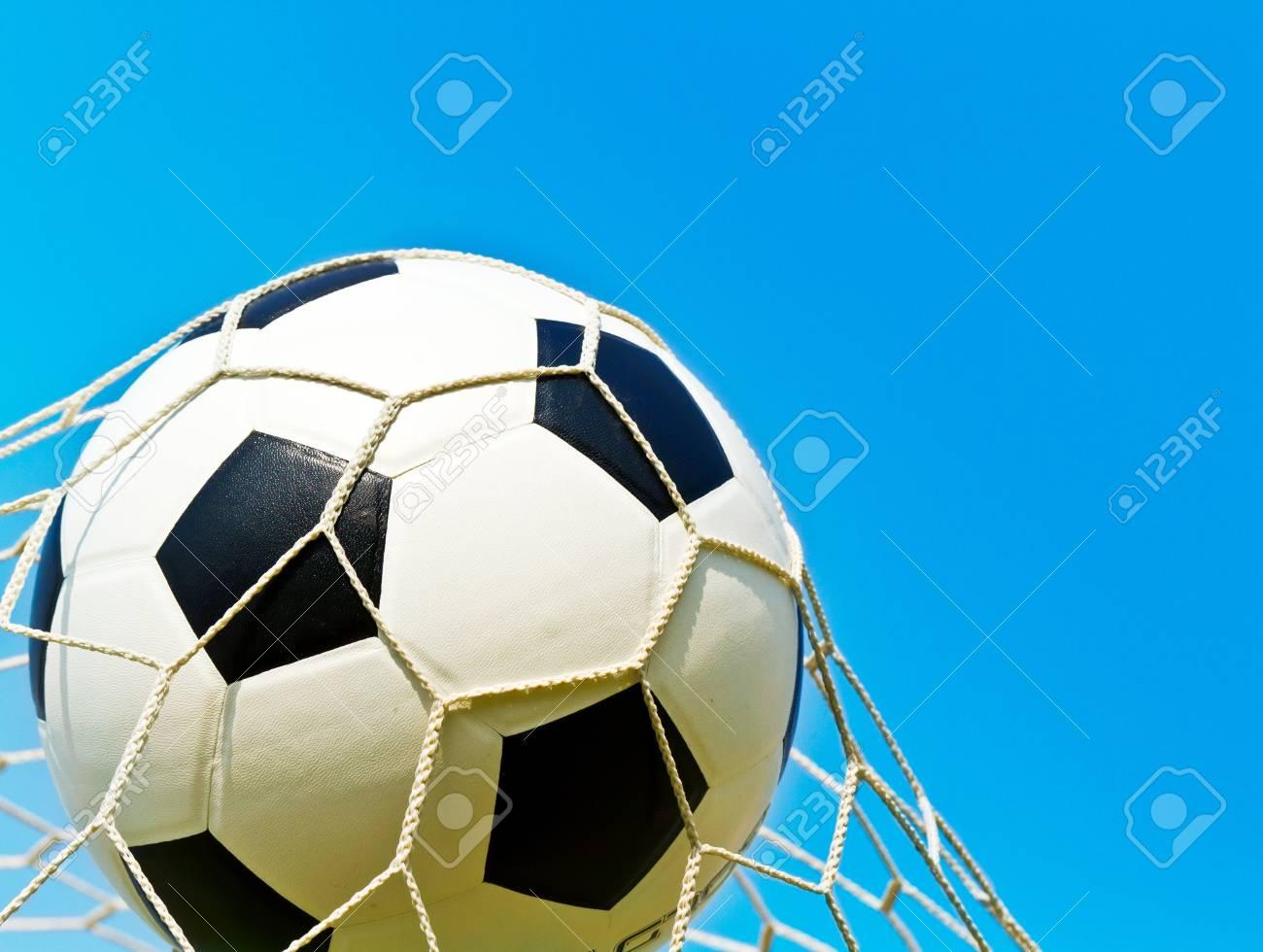Soccer ball in net Stock Photo - 13274968
