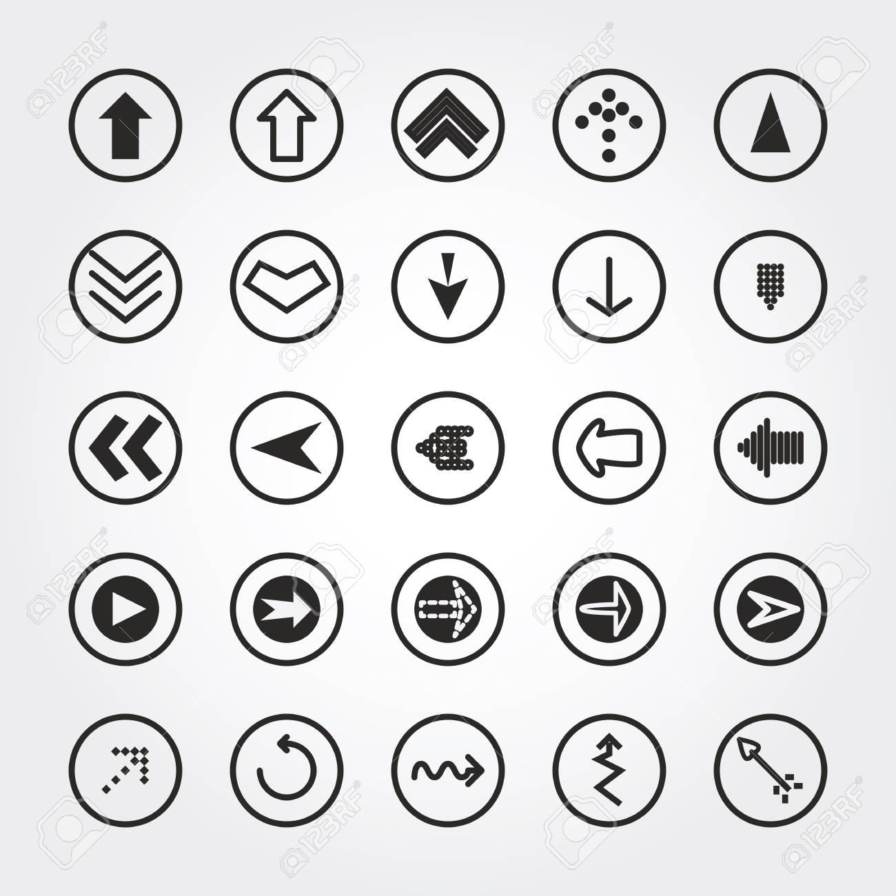 arrow icons Stock Photo - 21457931