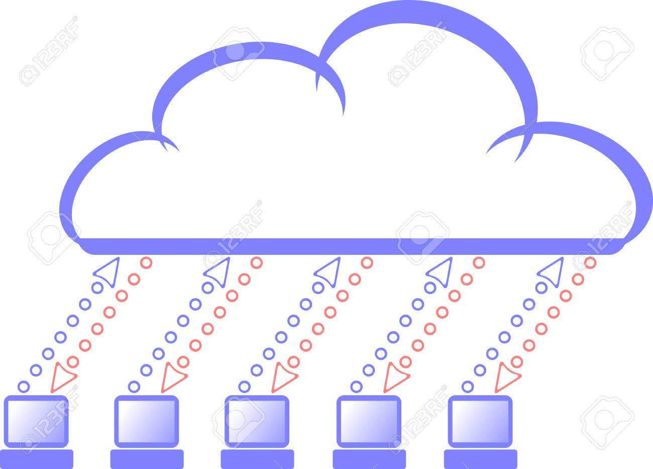 The symbol of cloud computing Stock Vector - 6620259