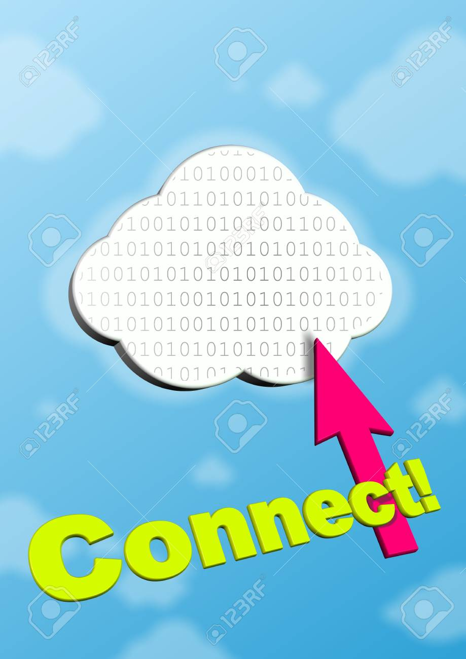 This is symbol of cloud computing. Stock Photo - 10363032