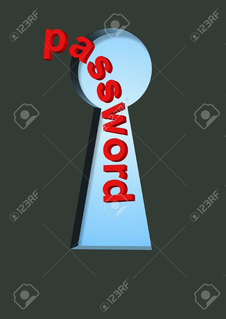 password in keyhole Stock Photo - 11817772