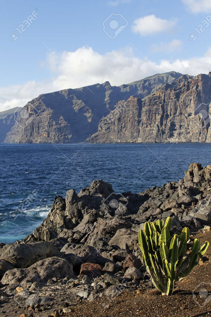the rock of Los Gigantos - canary island Stock Photo - 15540058