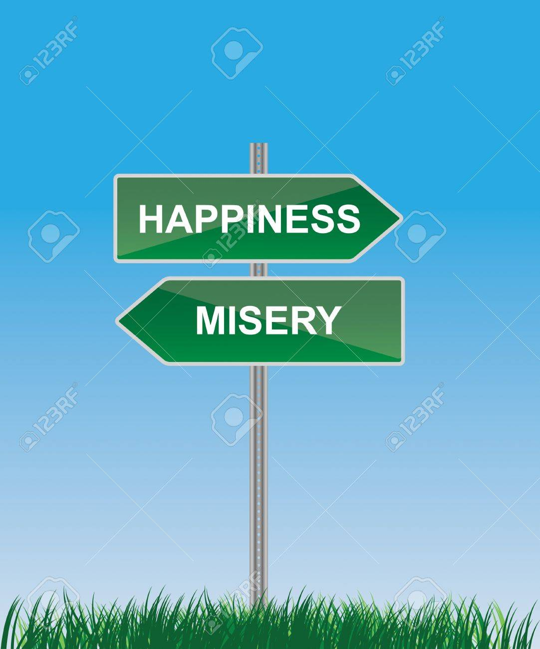 road sign arrow right and left Stock Vector - 10710610