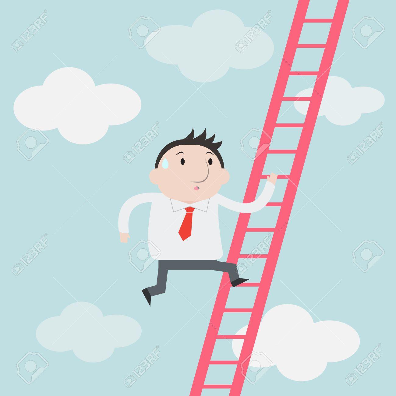businessman climbs up the ladder vector royalty cliparts businessman climbs up the ladder vector stock vector 41968372