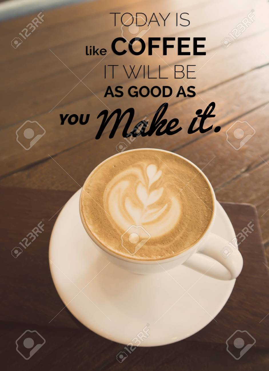Wonderful Inspirational Quote On Coffee Cup In Coffee Shop Background With Vintage  Filter Stock Photo   97225141