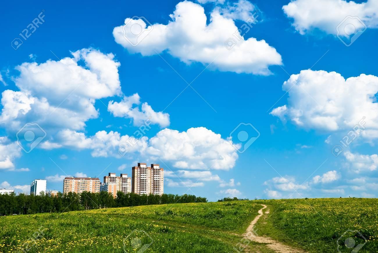 Buildings (city) on horizon - 12375090
