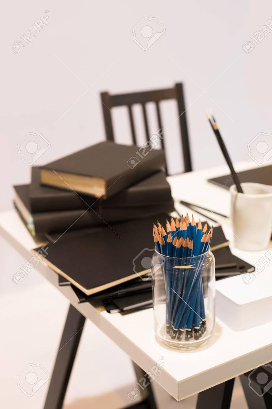 Schreibtisch Buro Bleistift Tisch Zeichnen Notebook Objekte