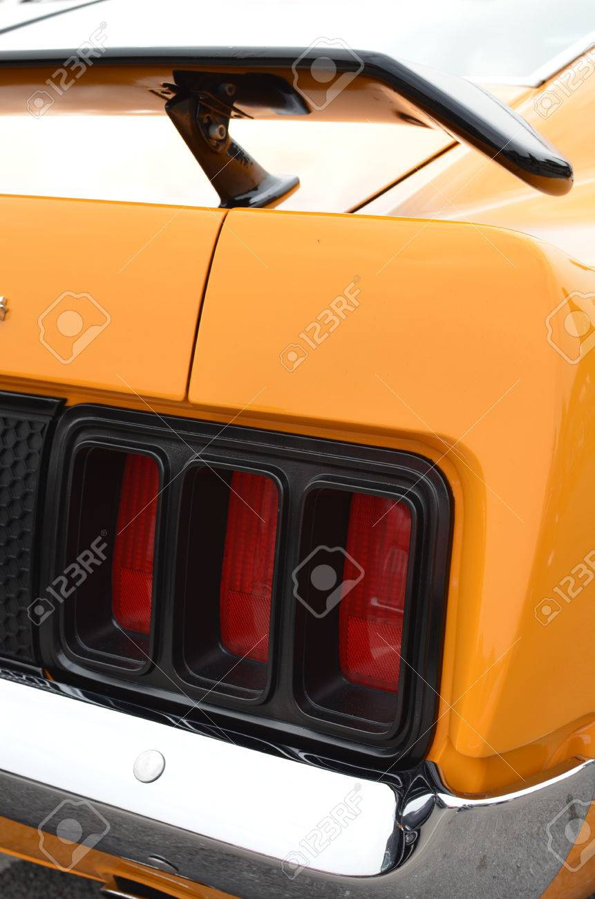 Rear Tail Light On Classic American Car Stock Photo Picture And