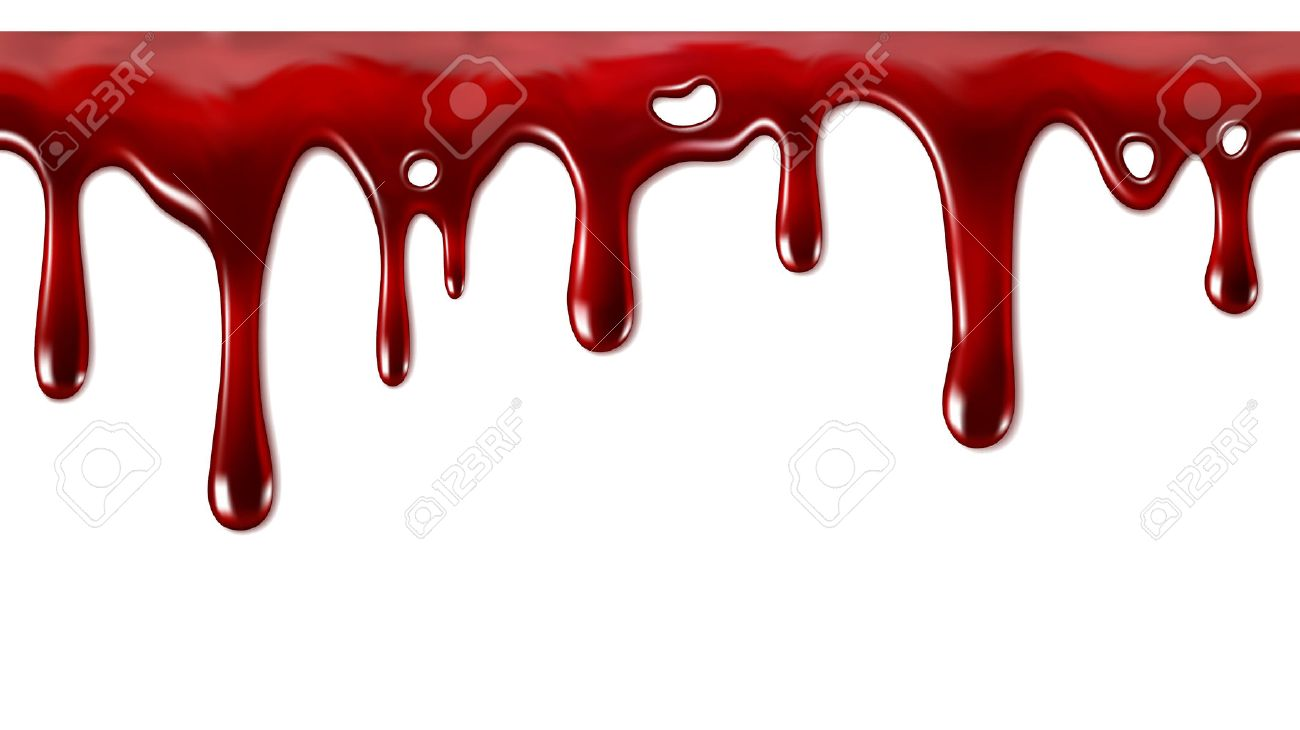 Dripping blood seamlessly repeatable flow down - 38425308