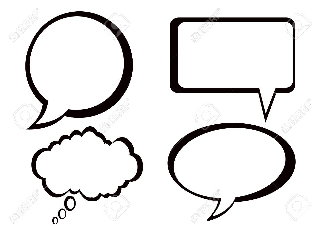 Speech And Thought Bubbles Set Royalty Free Cliparts, Vectors, And ...