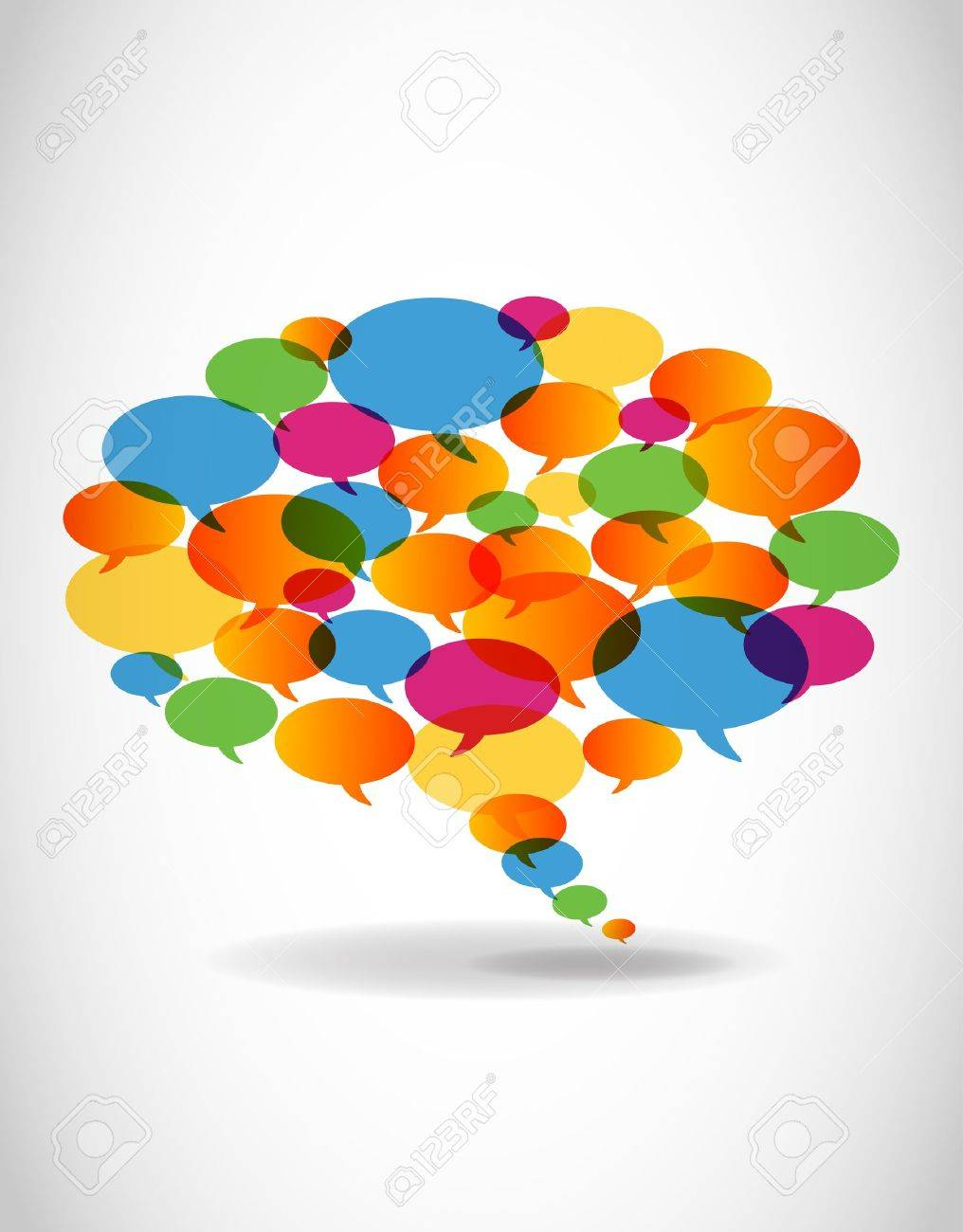 Abstract colorful speech bubble - 11660214