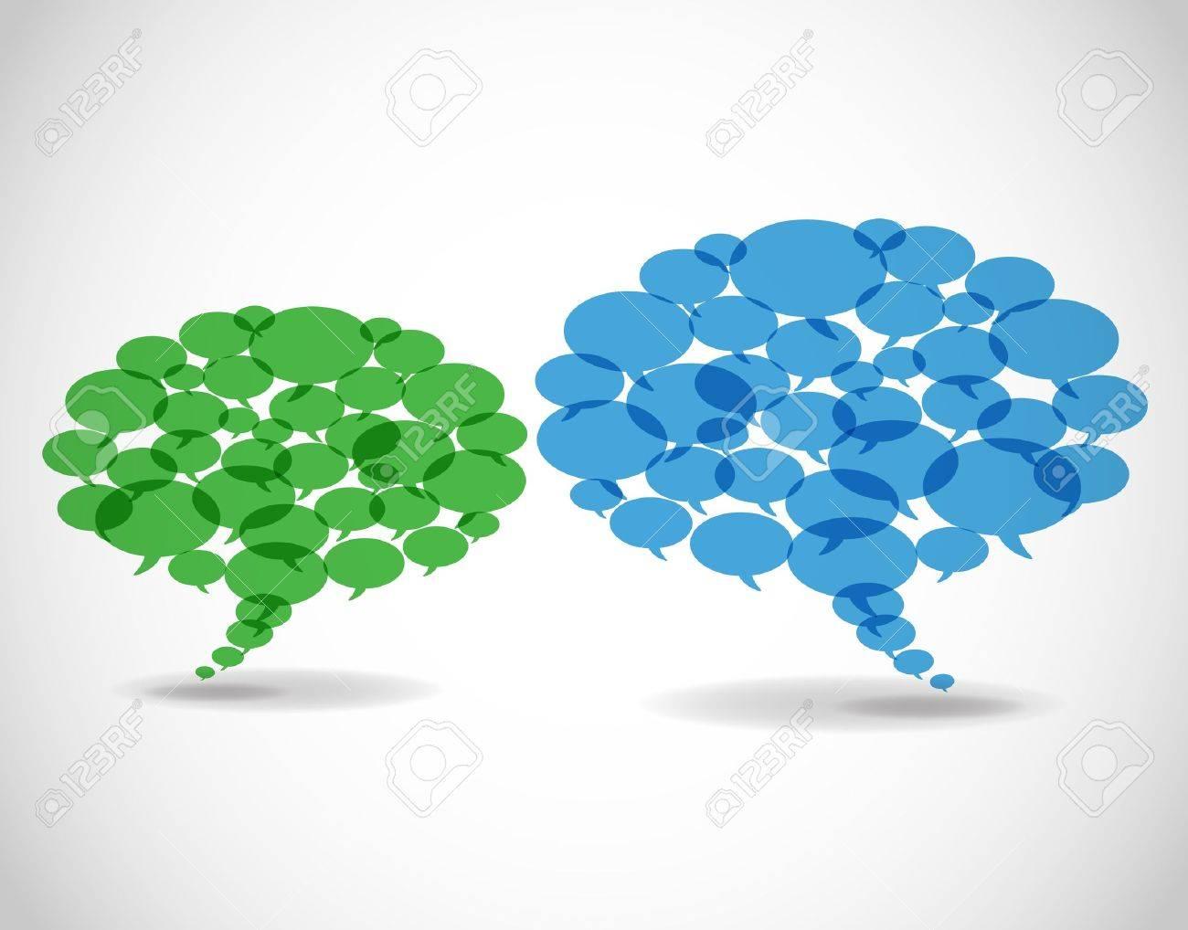 Abstract business speech bubbles. Stock Vector - 11660263