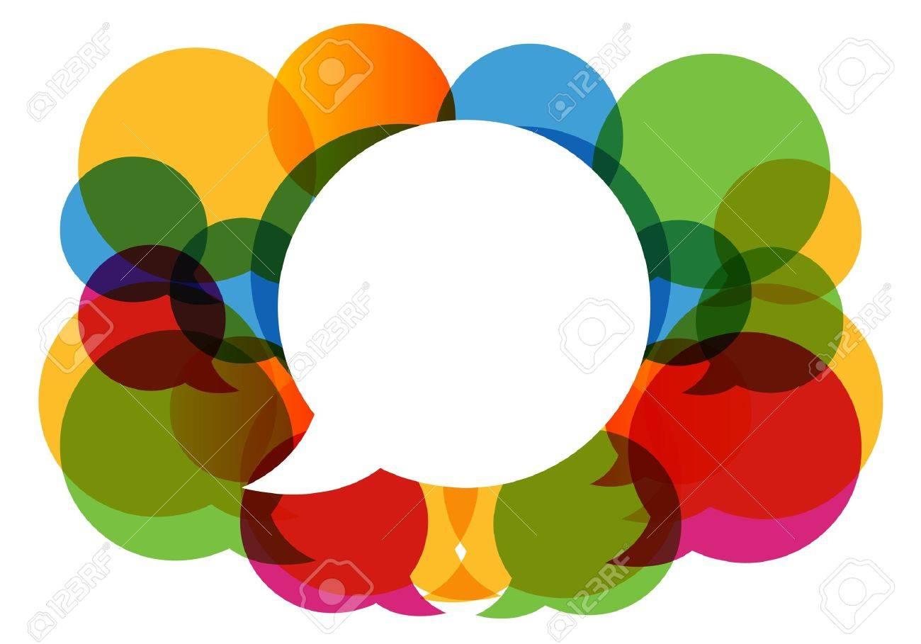 colorful dialog bubbles Stock Vector - 11660389
