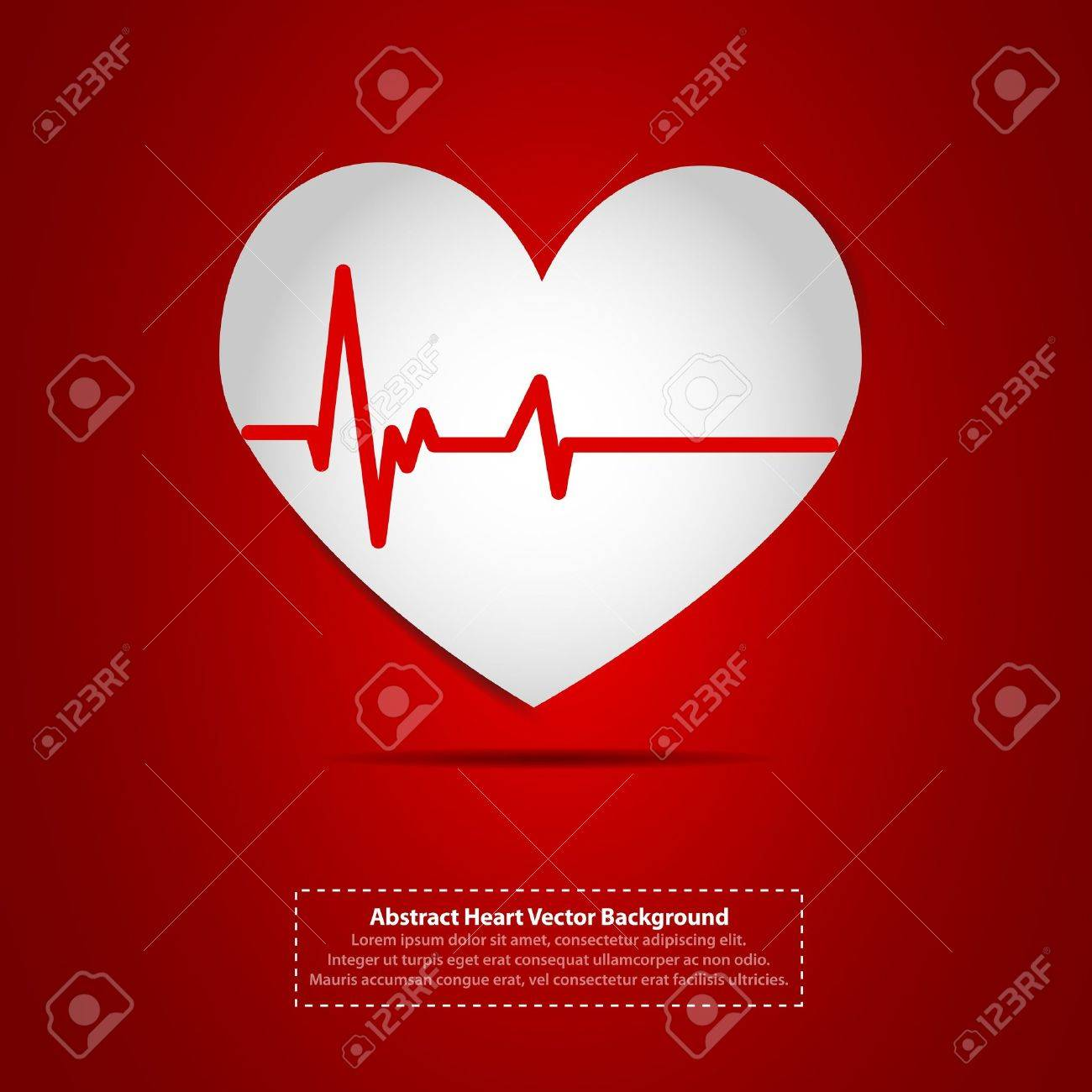 Heart with heartbeat symbol Stock Vector - 11849249
